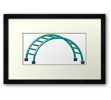 Slides parallel bars Framed Print