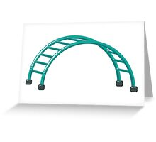 Slides parallel bars Greeting Card