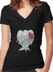 Good Omens Women's Fitted V-Neck T-Shirt