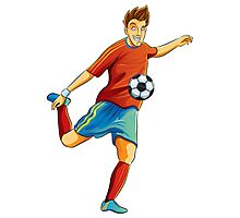 Portugal player kick the ball in euro cup Photographic Print