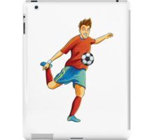 Portugal player kick the ball in euro cup iPad Case/Skin