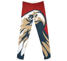 Eagle in red circle vector illustration Leggings