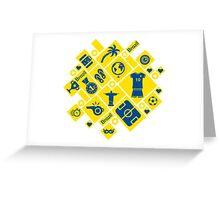 Brazil football icons Greeting Card