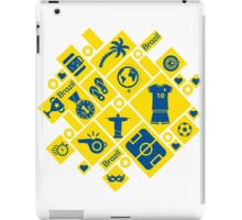 Brazil football icons iPad Case/Skin