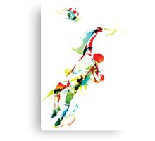 Goal keeper tries to save the ball Canvas Print