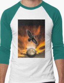 crow moon Men's Baseball ¾ T-Shirt