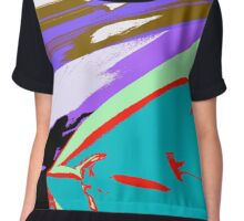 BLOOD MISSILE PURPLE SKY Chiffon Top