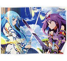 Sword Art Online II : Mother's Rosario - Asuna & Yuuki Poster Poster