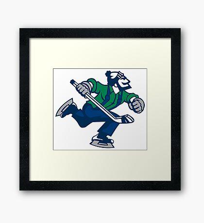 Ice hockey go canucks Framed Print
