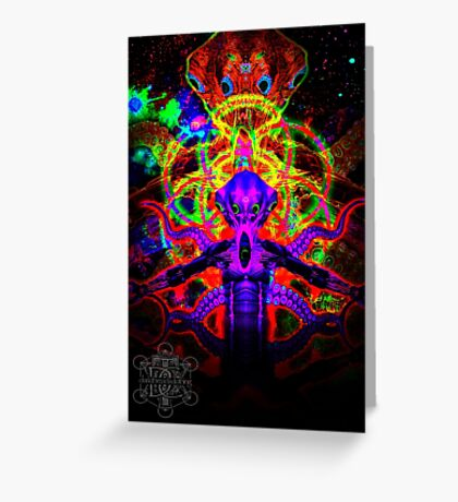 Cosmic Tentacle Screamer Greeting Card