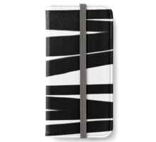 BLACK AND WHITE Lines Graphic P. Soulages Spirit iPhone Wallet/Case/Skin
