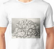 Fruit and flower piece - 1863 - Currier & Ives Unisex T-Shirt