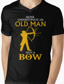 AN OLD MAN WITH BOW Mens V-Neck T-Shirt
