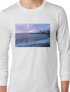 Soft and Rough - Colorful Dawn on the Lakeshore Long Sleeve T-Shirt