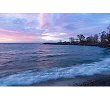 Soft and Rough - Colorful Dawn on the Lakeshore Photographic Print
