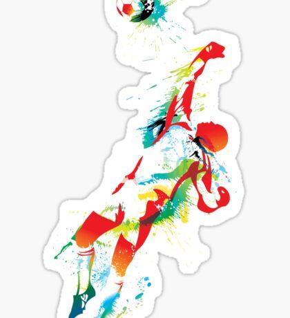Colorful splash soccer goal keeper Sticker