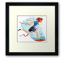 Funny cartoon athletics sporting design Framed Print