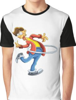 Cartoon boy playing with ring Graphic T-Shirt
