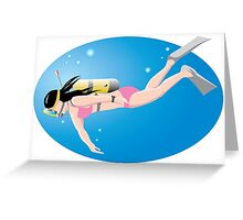 Surfing sport cartoon art Greeting Card