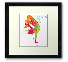 Colored sports art Framed Print