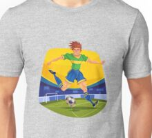 Funny cartoon football sporting design Unisex T-Shirt