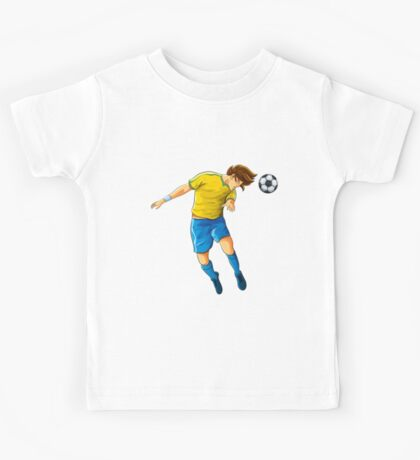 Soccer head shot goal Kids Tee