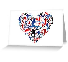 Athletic player made heart in Olympic Greeting Card