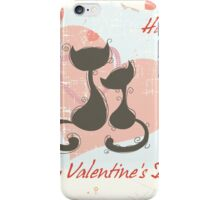 Romantic seamless pattern background iPhone Case/Skin