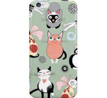 Funny cartoon cat design pattern iPhone Case/Skin