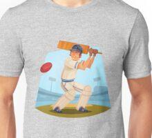 Funny cartoon cricket sporting design Unisex T-Shirt