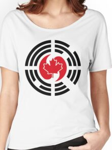 Korean Canadian Multinational Patriot Flag Series Women's Relaxed Fit T-Shirt