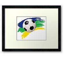 Brazil soccer world cup background Framed Print