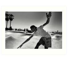 Concrete Surfer - Venice Beach California USA Art Print