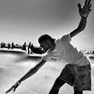 Concrete Surfer - Venice Beach California USA by Norman Repacholi