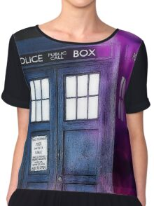 Public Police Box - Dr Who Chiffon Top