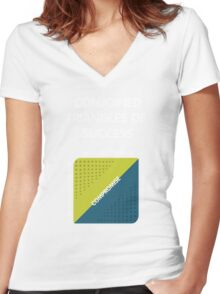 Conjoined Triangles of Success - Silicon Valley Women's Fitted V-Neck T-Shirt