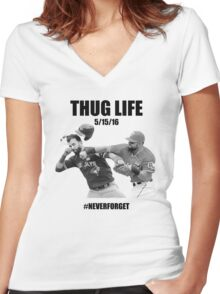 Thug Life 2 Women's Fitted V-Neck T-Shirt
