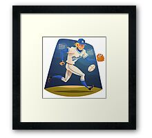 Funny cartoon baseball sporting design Framed Print