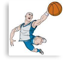 Basketball player pose Canvas Print