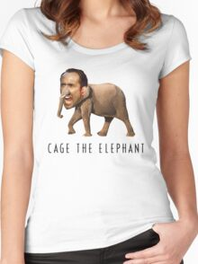 Nicolas Cage The Elephant Women's Fitted Scoop T-Shirt