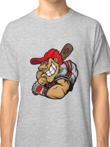 Funny cartoon baseball player Classic T-Shirt