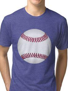 Funny cartoon baseball sporting design Tri-blend T-Shirt