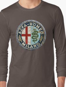 ALFA ROMEO RETRO BADGE Long Sleeve T-Shirt