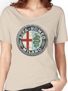 ALFA ROMEO RETRO BADGE Women's Relaxed Fit T-Shirt