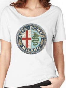 ALFA ROMEO RETRO BADGE Women's Relaxed Fit T-Shirt