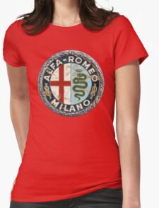 ALFA ROMEO RETRO BADGE Womens Fitted T-Shirt