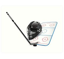 Ice hockey sports equipment Art Print
