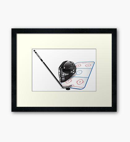 Ice hockey sports equipment Framed Print