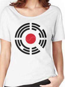 Korean Japanese Multinational Patriot Flag Series Women's Relaxed Fit T-Shirt