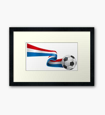 Abstract 3d France flag football ribbon tails Framed Print